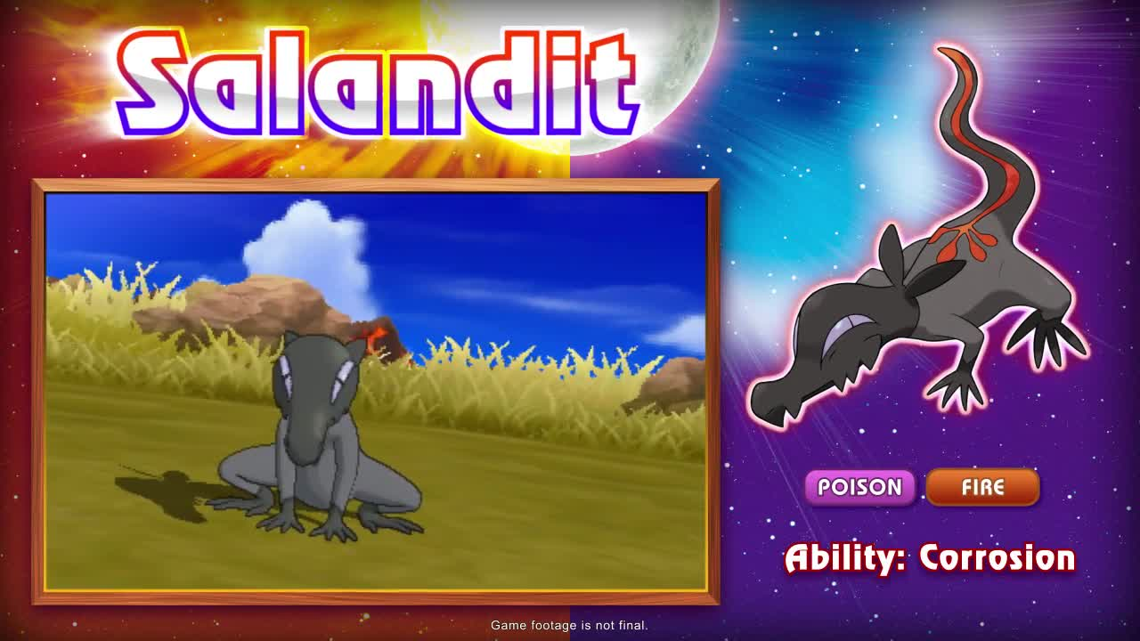 Salandit Revealed For Pok Mon Sun And Pok Mon Moon Videos  # Muebles Pokemon