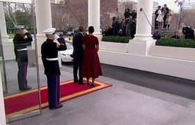 Obamas Greet the Trumps at the White House