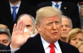 Donald J. Trump Swearing In Oath of Office Inauguration