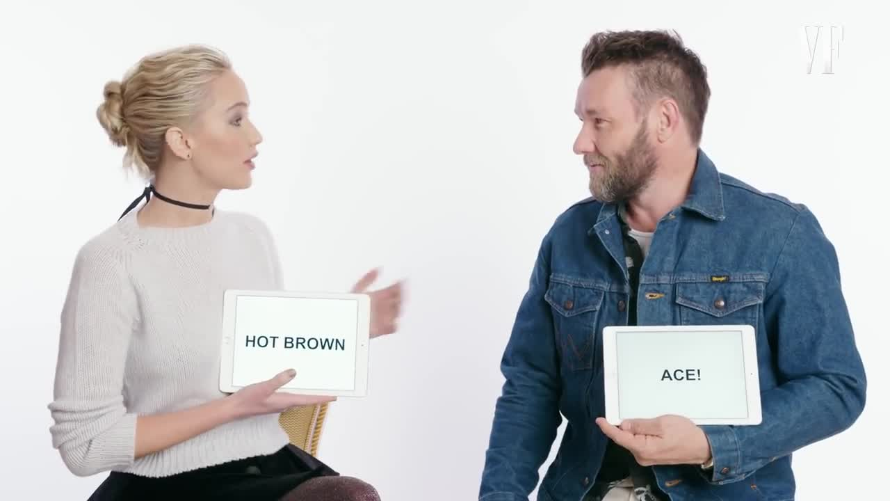 Jennifer Lawrence And Joel Edgerton Teach Kentucky And Aussie  # Muebles Lawrence