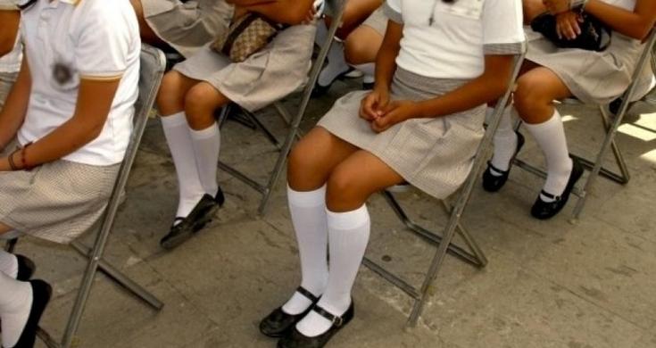 escuela secundaria ropa interior