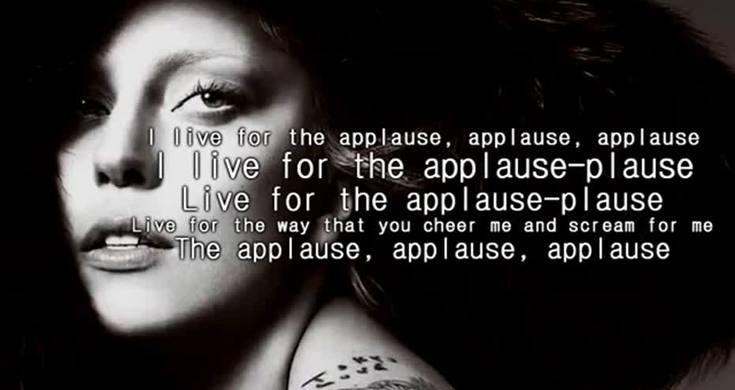 Lady Gaga APPLAUSE Lyrics On Screen Audio - Videos - Metatube Lady Gaga Applause Promo