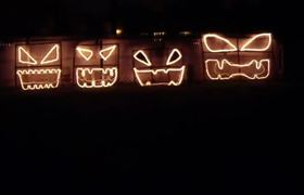 Halloween Light Show (2011) - This Is Halloween Theme From