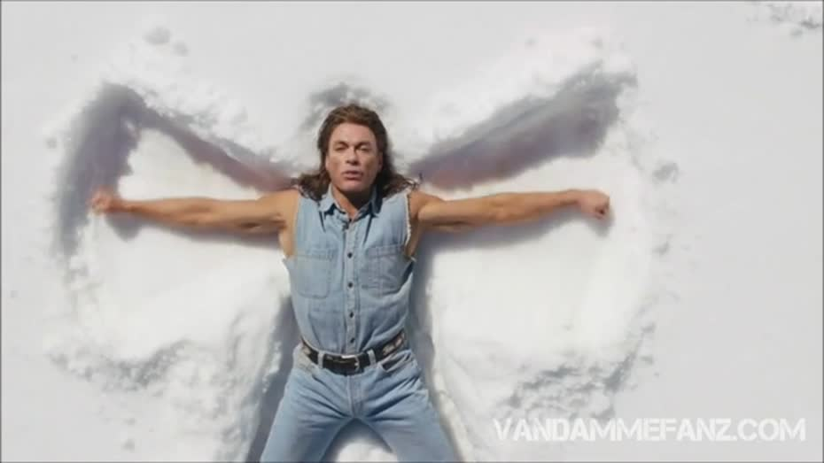 Jeanclaude van damme making snow angels videos metatube mozeypictures Images