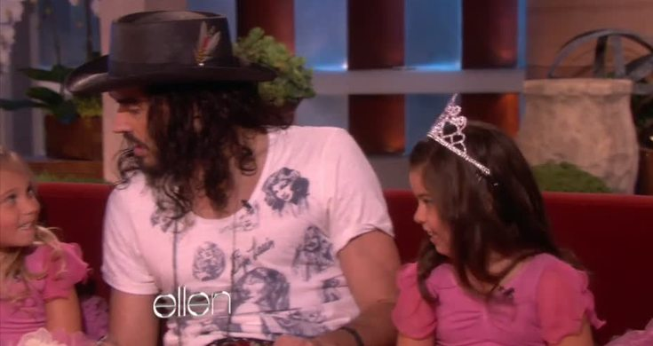 sophia grace and rosie meet russell brand on ellen