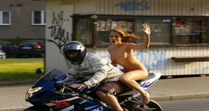 nude women cum on motorcycle