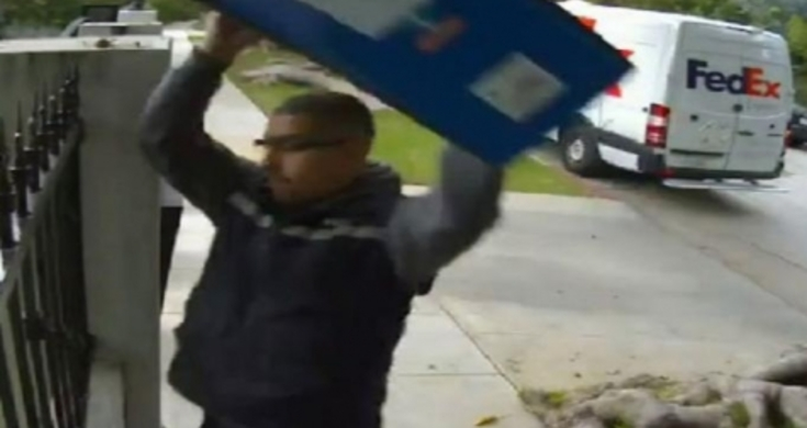Merry Christmas From FedEx Delivery Guy Throws TV Over The