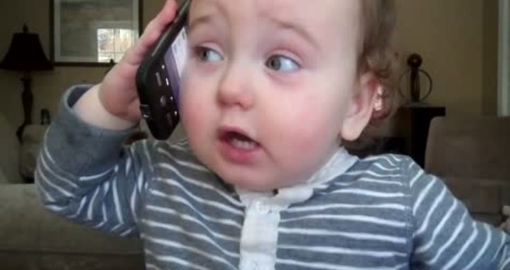 Bebe Hablando Por Telefono: Bebé Habla Por Telefono