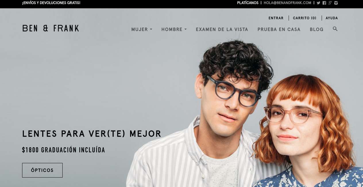 Ben & Frank, LECO, LentesPlus: ¿por qué deberías comprar anteojos en ...
