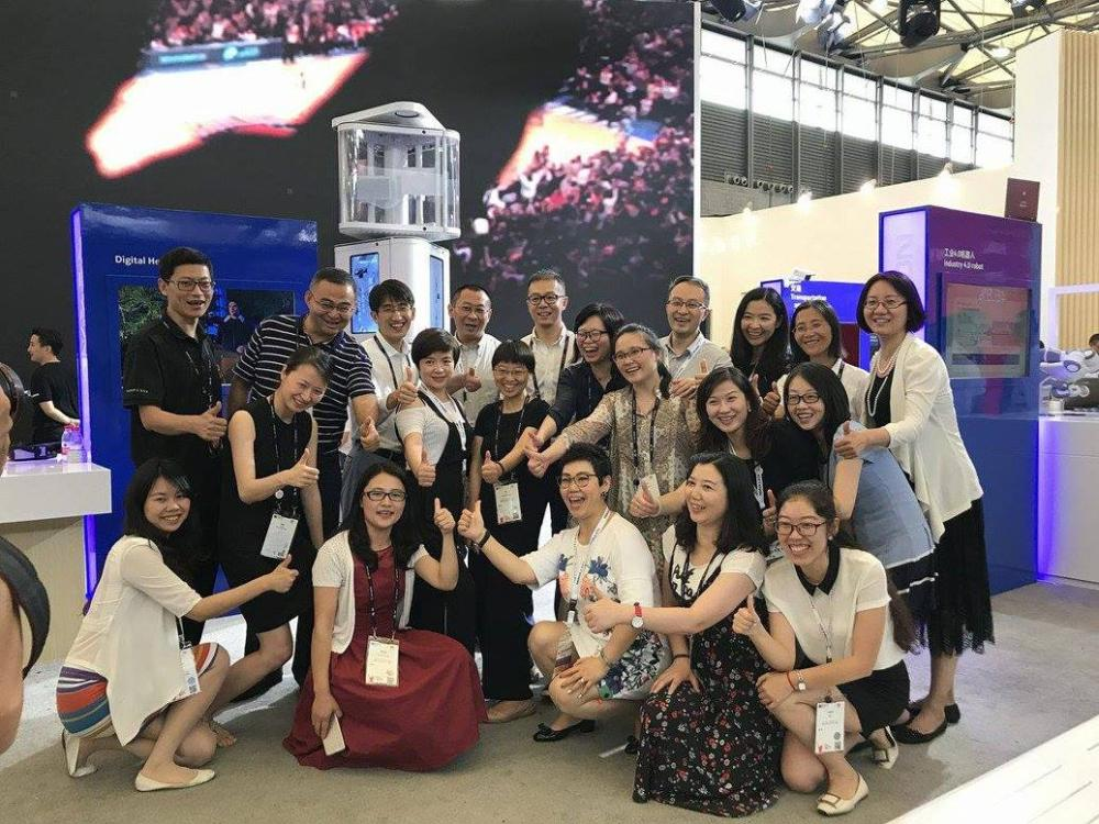 El equipo de Nokia en el Congreso Mundial de Dispositivos Móviles en Shanghai