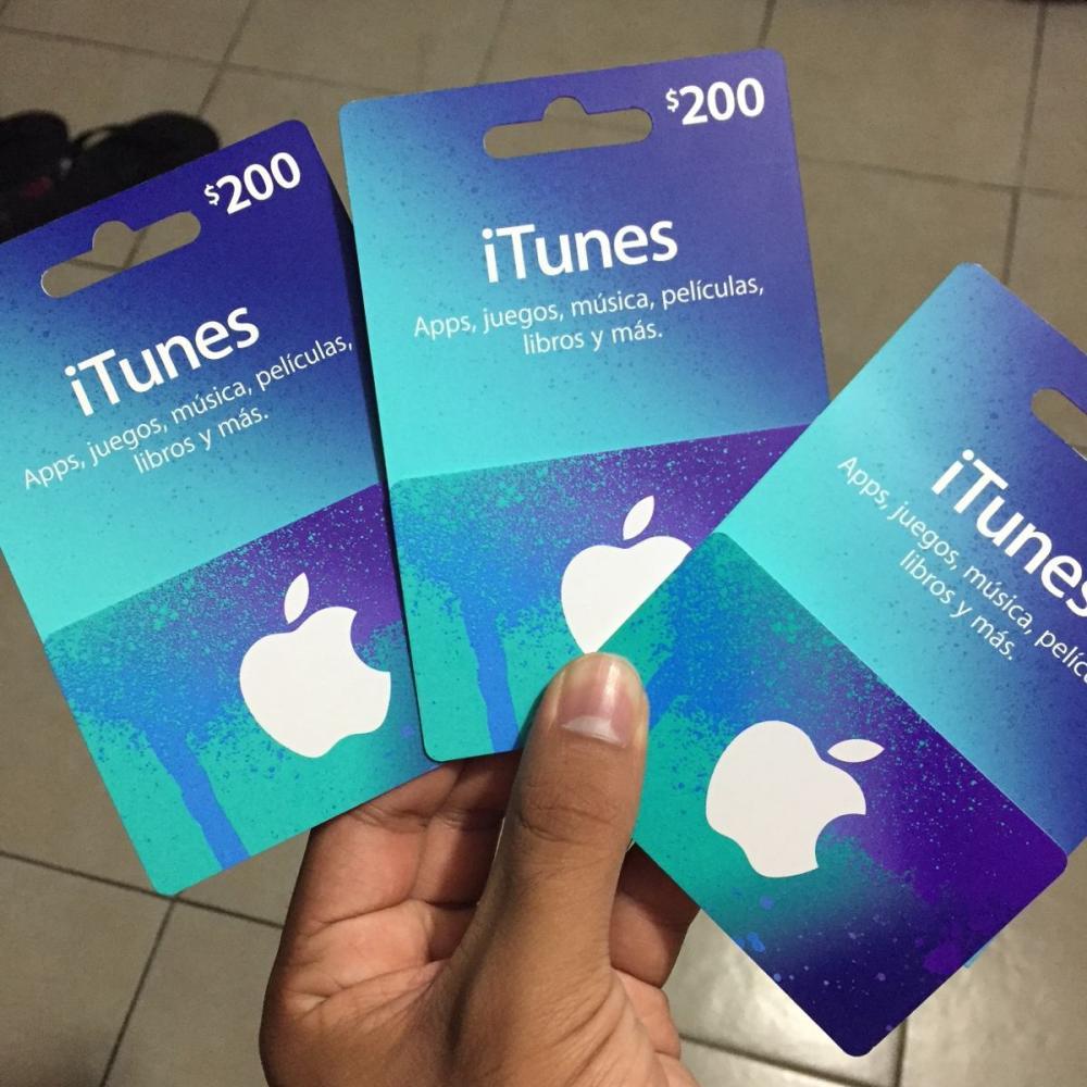Tarjetas iTunes