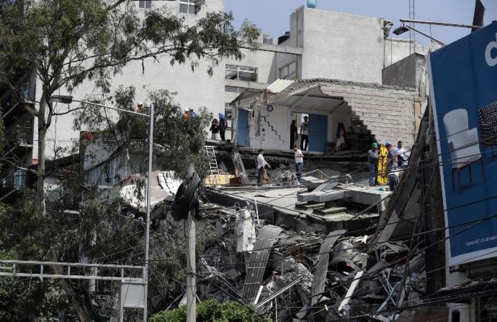 Edificio colapsado en la Ciudad de México