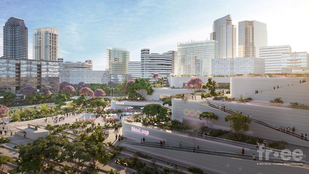 Diseño conceptual de la estación de Hyperloop en Guadalajara
