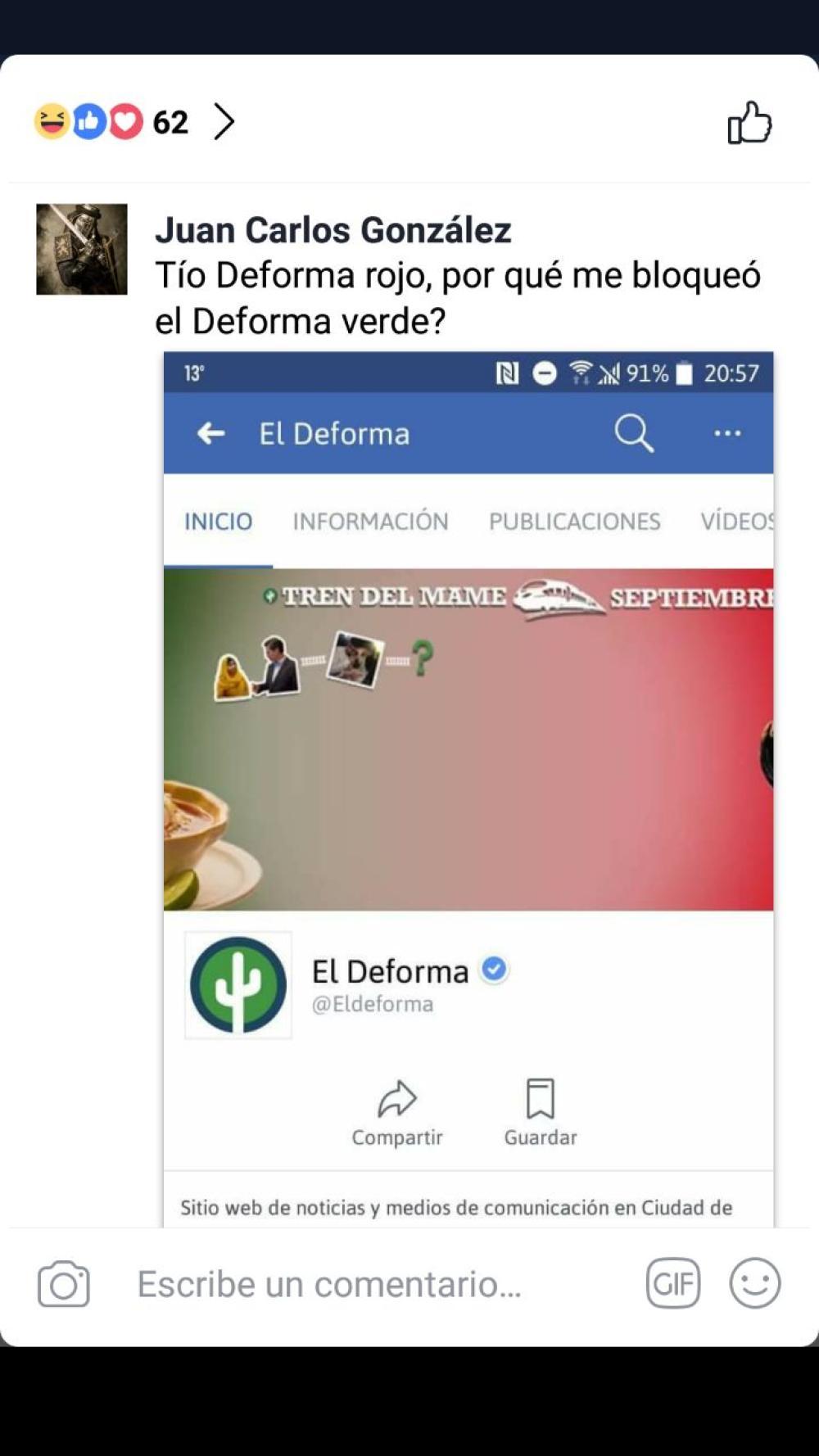 Según reportes, El Deforma empezó a bloquear usuarios
