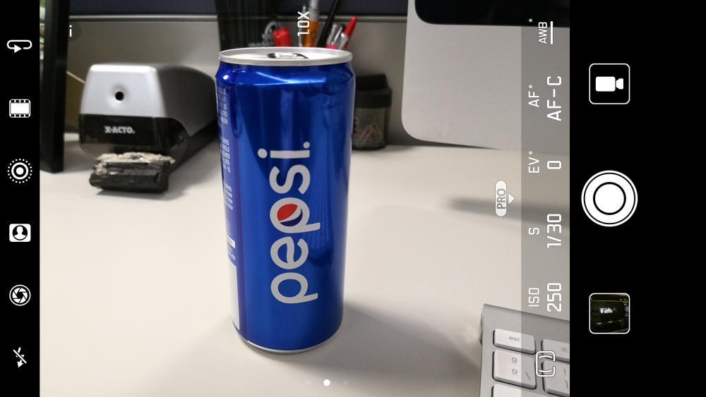 Modo Pro de la cámara del Huawei Mate 10.