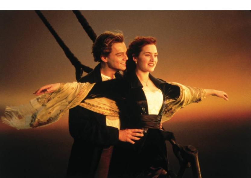 """Leonardo y Kate en """"Titanic"""""""