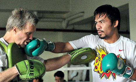 Freddie Roach training Manny Pacquiao