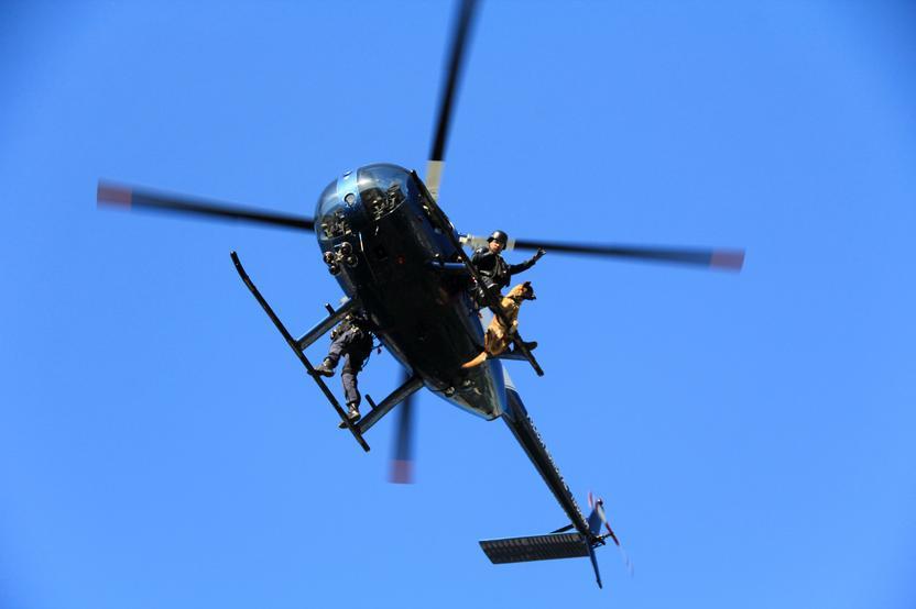 Un helicóptero de la Policía Municipal. Foto: Ayuntamiento de Tijuana