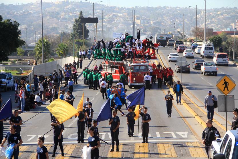 El desfile. Foto: Ayuntamiento de Tijuana