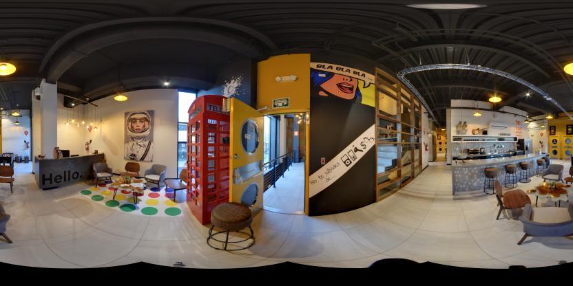 Eazy Workspace interior at Esquina Sara.