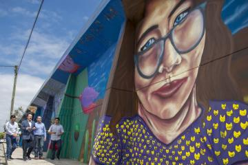 "Tijuana Mayor Welcomes Latest Street Mural ""In Search of An..."