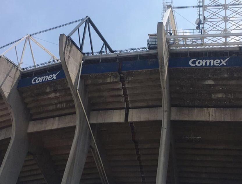 Las gradas del Estadio Azteca se abrieron