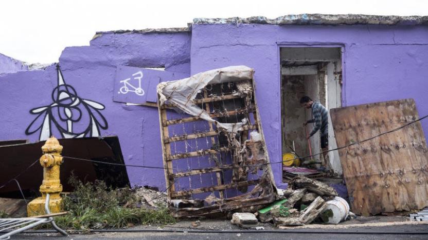 Las viviendas completamente destrozadas. Fotografía por Getty
