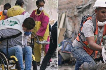 Images of Disabled Rescue Volunteers Helps Heal Quake Damaged Mexico