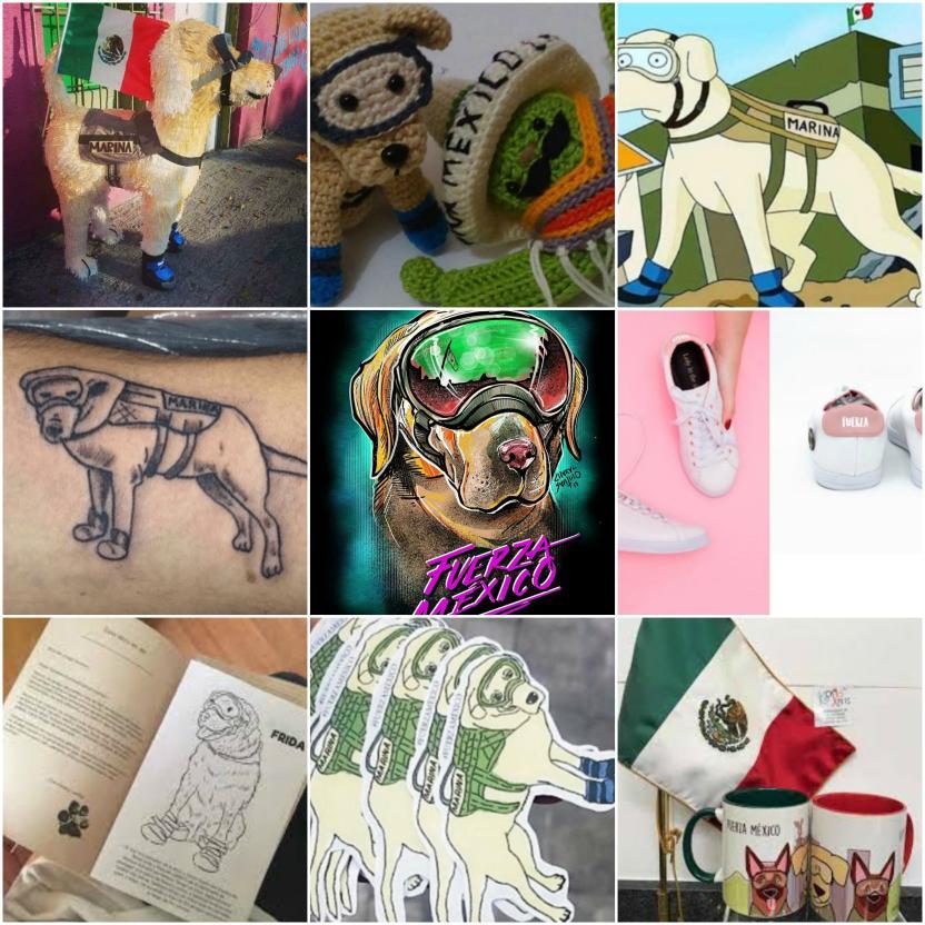 Estos y más productos con la imagen de la perrita circulan por internet