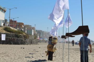 A White Flag Art Installation Decorated Playas de Tijuana Last Weekend