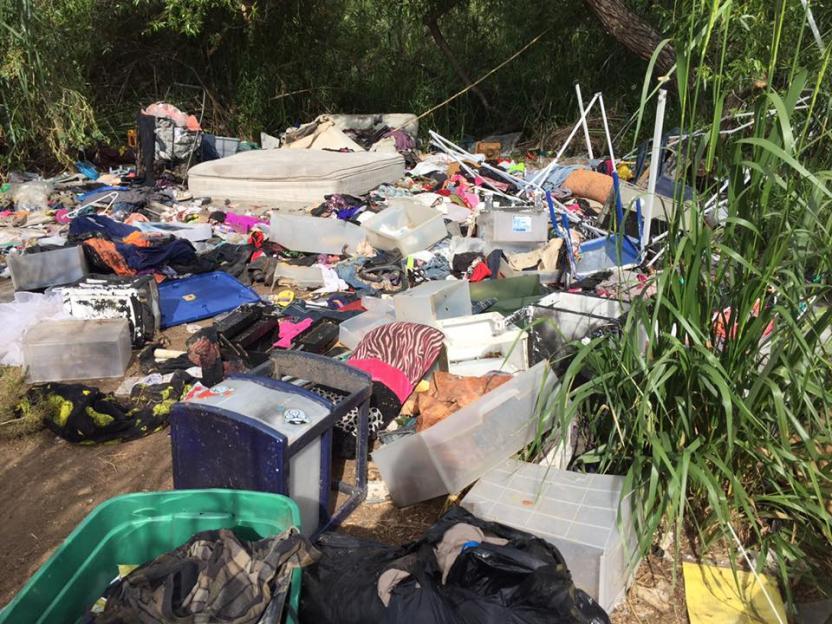 El 90% de la basura y residuos encontrados pertenecen a la población sin hogar de SD.