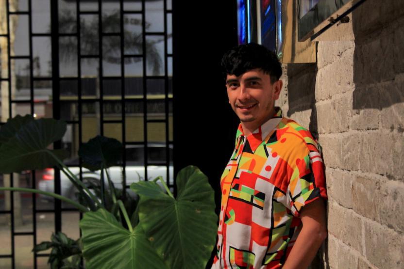 Voz de ardilla que le gusta el sarcasmo y el humor negro, se lee en el cartel del show. Foto: Ángel Garcia SDR