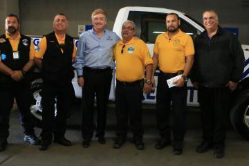 Grupo de rescate Los Aguiluchos recibe unidad nueva