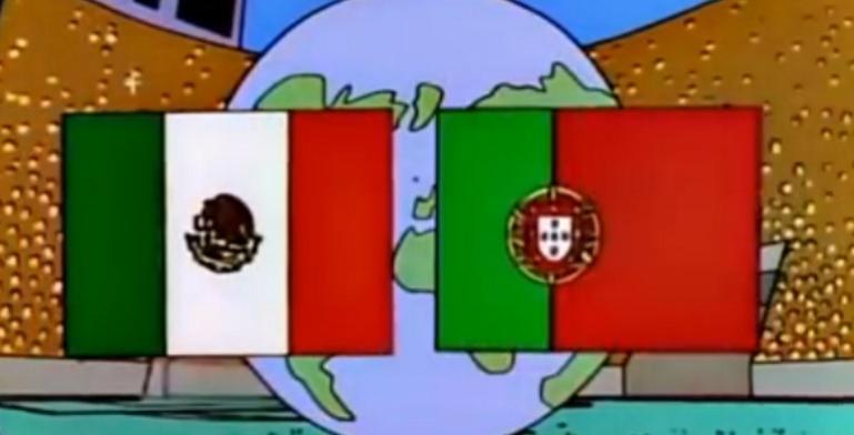 Los Simpson predicen final México vs Portugal en el Mundial