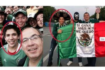 Es hijo de Calderón uno de los que sostiene la bandera