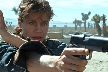 Revelan imágenes de Linda Hamilton como Sarah Connor en nueva...