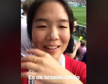 "VIDEO: ""Hablo español, pen$#jo"", responde coreana a..."