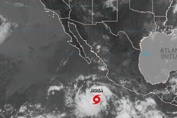 """Tormenta tropical """"Rosa"""" podría impactar Baja California"""
