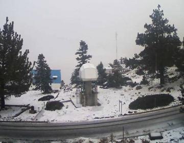 Llega primera nevada de la temporada a San Pedro Mártir