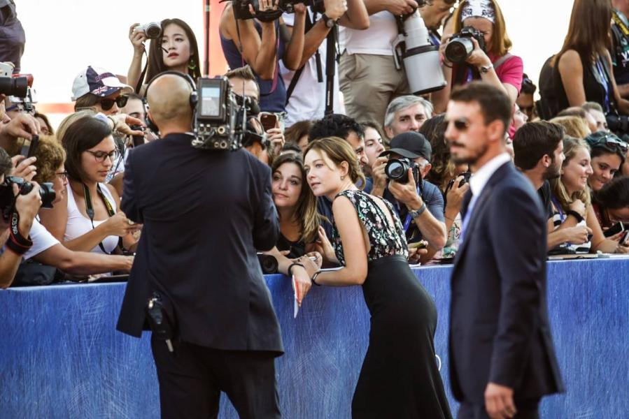 Alfombra roja del Festival Internacional de cine de Venecia