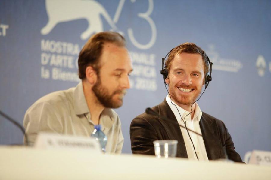 Fassbender durante la conferencia de prensa