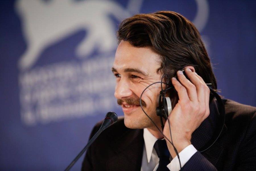 James Franco en conferencia de prensa