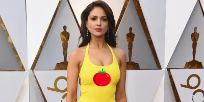 Eiza González responde a las críticas de su vestido amarillo en los Óscar