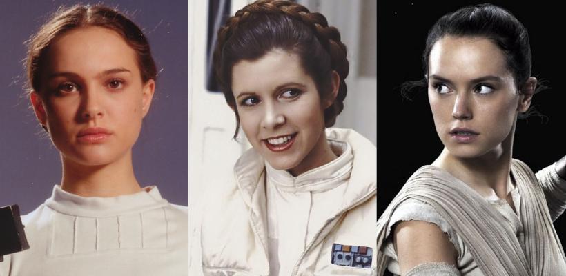 Nuevo estudio clasifica a las películas de Star Wars por el tiempo en pantalla de sus personajes femeninos