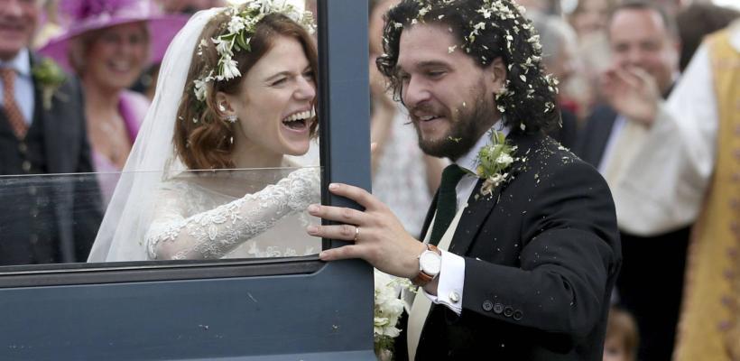 Game of Thrones: Kit Harington y Rose Leslie se casaron en Escocia