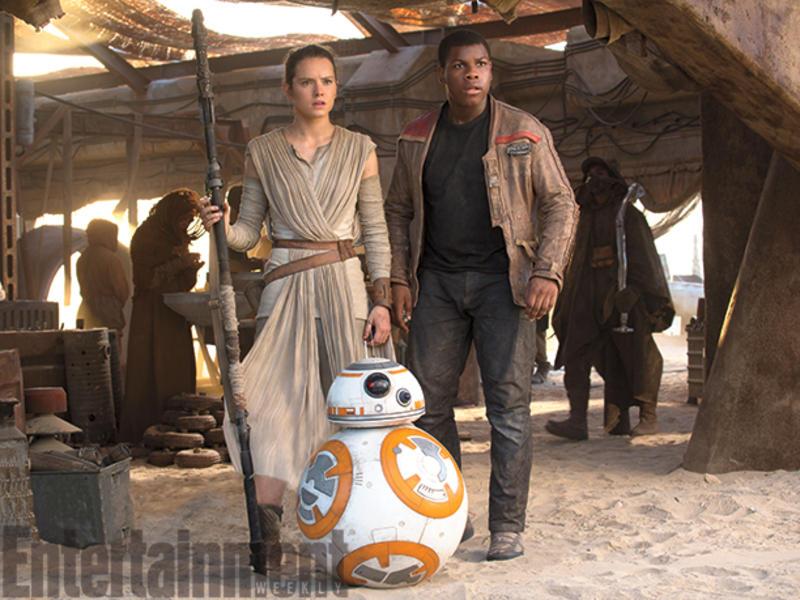Finn, Rey y BB8
