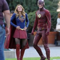 Crossover Supergirl/The Flash Detrás De Cámaras7