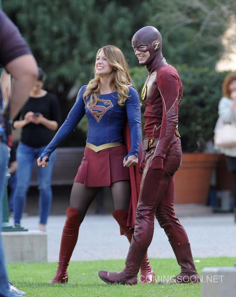 Crossover Supergirl/The Flash Detrás De Cámaras6