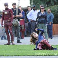 Crossover Supergirl/The Flash Detrás De Cámaras5