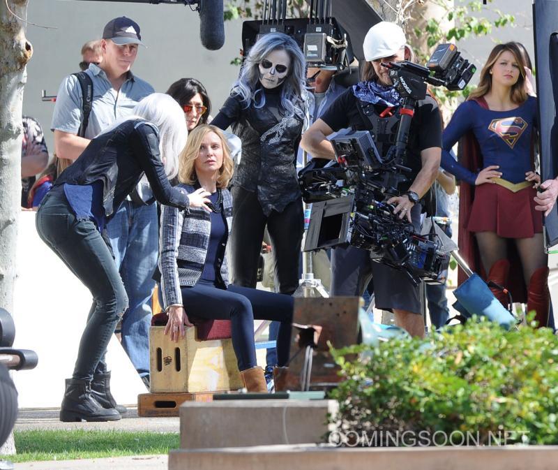 Crossover Supergirl/The Flash Detrás De Cámaras2
